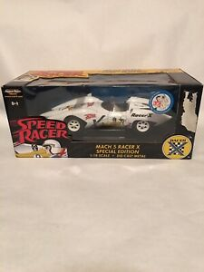 Speed Racer Mach 5 Racer X 35th Anniversary Special Edition 1:18 Diecast Car New