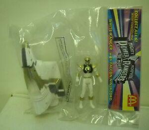 #3783 McDonalds Mighty Morphin Power Rangers Movie White Ranger Falcon Ninjazord