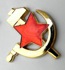 RUSSIA CCCP RUSSIAN SOVIET HAMMER AND SICKLE EMBLEM LOGO PIN BADGE 1 INCH