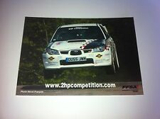CP POSTCARD CARTOLINA SUBARU IMPREZA PATERNOT RALLY RALLYE WRC 2006