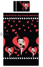 Betty Boop Just Kissing Hearts Single Duvet Bed Set