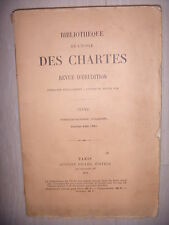 Moyen Âge: Erudition: Bibliothèque de l'école des Chartres, N°68, sept-dec 1907