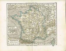 Karte von FRANKREICH, Original-Graphik 1874