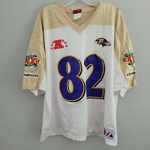 VTG Majestic NFL Baltimore Ravens Shannon Sharpe 84 Super Bowl Jersey Mens XL