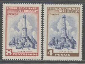 Uruguay 1954 Pictorial set Sc# 605-21 mint