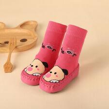 Infant Baby Toddler Kid Girls Boy Slipper Sock Shoes Cartoon Soft Anti-slip Boot