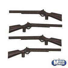 PLAYMOBIL ® Western | ACW | soldati | Arma guardia: 4 X FUCILE Marrone Scuro RAR