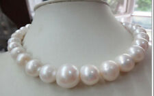 12-14mm natural south sea genuine white nuclear near round pearl necklace JN1851