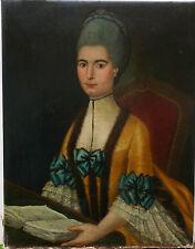 Portrait Femme Epoque début XVIIIème siècle Huile sur toile Ecole Française