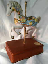 """Heritage House Carousel Horse Music Box """"Maria"""" Plays """"The Way We Were"""""""