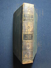 Library of the World's Best Literature Vol. VII CIC - CUV 1897 [Hardcover]
