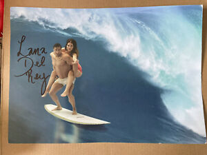 Lana Del Rey Surfing Signed Litho Print NFR Norman Rockwell A4 Autograph
