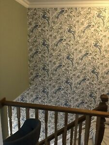 Laura Ashley Osterley Wall Paper (Sage Green) Part Roll
