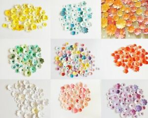 Mixed Flowers Papercraft Embellishments Scrapbooking Floral Card Making Crafts