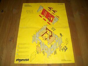 Playmobil Bauplan Aufbauplan Stadtwache 3444