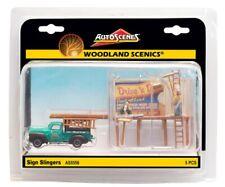Ho Scale Woodland Scenics AutoScenes As5556 Sign Slingers Truck & Billboard