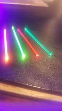 "4 x 3"" pcs BullsEye Fiber Optics Sight Bright .060""/1.5mm or .040""/1mm 12"" total"