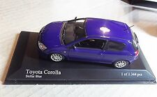400166100  MINICHAMPS 1:43 SCALE ~TOYOTA COROLLA 2 DOOR 2001 ~ BLUE METALLIC