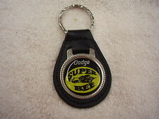 DODGE  SUPER BEE  KEY CHAIN  BLACK LEATHER FOB