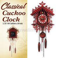 Vintage Cartoon Wood Handcraft Forest Cuckoo Clock Swing Wall Home Decor Gift