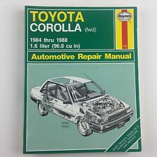 HAYNES CAR REPAIR MANUAL 1025 TOYOTA COROLLA FWD 1984-1992