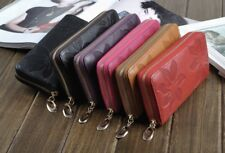 Women Long Embroidery Leather Long Wallet