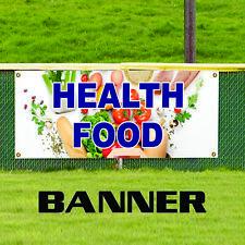 Health Food Organic Produce Unique Novelty Indoor Outdoor Vinyl Banner Sign