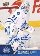 2014-15 Upper Deck AHL CHRISTOPHER GIBSON Autograph Auto #33 Marlies Maple Leafs