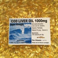 """COD LIVER OIL SuperStrength 1000mg 120 Capsules  """"FREE POSTAGE""""    ( L)"""
