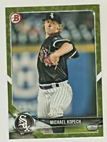 2018 Bowman Prospects GREEN CAMO BP86 MICHAEL KOPECH RC Rookie Chicago White Sox