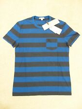Brand New Authentic Genuine Burberry Marine Blue T Shirt size M with Carry Bag!