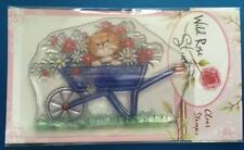 Wild Rose Studio 'Cat in Wheelbarrow' Clear Stamp