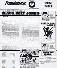 BLACK BELT JONES Original Australian Movie Press Sheet Kung Fu
