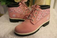 TIMBERLAND WOMENS PINK NELIE CHUKKA WATERPROOF ANKLE NUBURK SHOES BOOTS 8