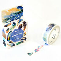 5 Roll Feather Washi Tape 15mmX7m Decorative Sticky Paper Masking Tape Adhesive~