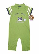NEW! CHILD OF MINE BABY ROMPER/ JUMPSUIT (GREEN/NAVY, SIZE 6-9M)