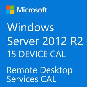 Windows Server 2012 / 2012 R2 Remote Desktop Services RDS 15 DEVICE CAL License