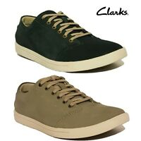New Mens Clarks Plus Blue & Grey Suede Leather Trainers Shoes Newood Street
