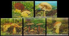 BHUTAN 3-D Mushroom, Fungi-5 Different Plastic Fancy Stamps-MNH
