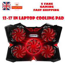 UK·CoolCold Fashion LED Flash Laptop Cooler Stand Cooling Pad for 12-17 inch