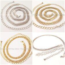 NUEVO Diseños pedrería Mujer Cadena Cintura Cinturón en dorado y plateado
