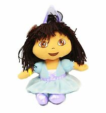 "Nickeledeon Nick Jr. Dora the Explorer Blue Dress 12"" Plush Backpack Tote -NEW!"