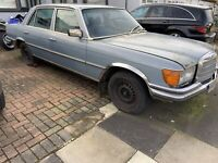 Mercedes Benz 450 SEL 4.5 V8 LWB W116 spares or repair NO RESERVE private plate