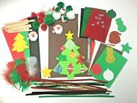 Kids Arts & Craft Box ~ Children's Christmas Craft Sets ~ Felt Card Pom Glitter