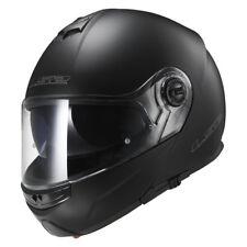 LS2 CASCO plegable Casco para motocicleta con Parasol FF325 Strobe Negro Mate XL