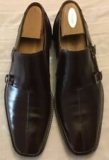Mezlan Quattro Monk Double Strap Buckle Slip On Shoes Size 12M Very EUC