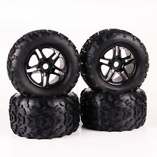 4Pcs Rubber Tires Wheel Rim For TRAXXAS Summit 1:8 RC Bigfoot Monster Car Truck