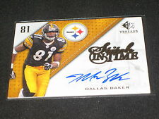 Dallas Baker Steelers 2009 Spx Certified Authentic Hand Signed Autographed Card