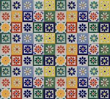 "100 Mexican Talavera Ceramic Tiles 4"" FLOWER DESIGNS"