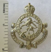 ORIGINAL WW2 Vintage CANADIAN ARMY GOVERNOR GENERAL'S HORSE GUARDS CAP BADGE